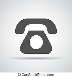 grijs, telefoon, illustratie, achtergrond., vector, schaduw, pictogram