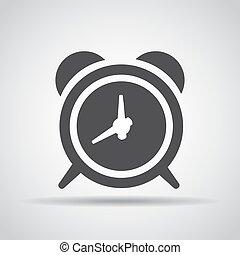grijs, waarschuwing, illustratie, achtergrond., vector, schaduw, pictogram