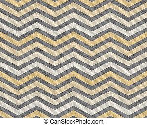 grijs, weefsel, gele zigzag, achtergrond, textured