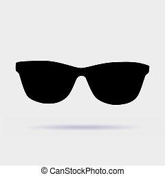 grijs, zonnebrillen, illustratie, vector, achtergrond, pictogram