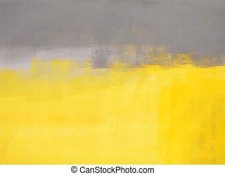 grijze , en, gele, abstracte kunst