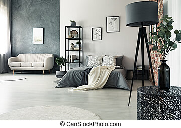 Grijze Slaapkamer Lamp : Planten lamp skateboard slaapkamer. planten vloer woning
