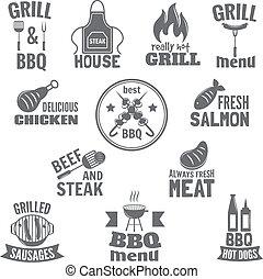gril, barbecue, étiquette