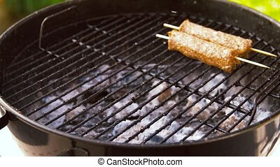 gril, barbecue, brasero, chiche-kebab, torréfaction, viande