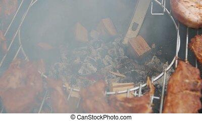 gril, barbecue, viande