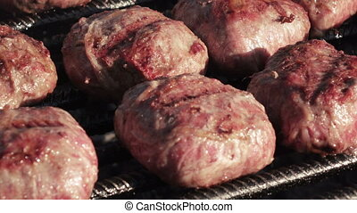 gril, cuisine, hamburgers