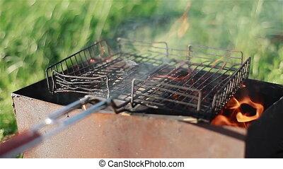 gril, cuisine, pique-nique, barbecue, été