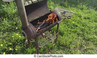 gril, kebabs, fait maison, friture
