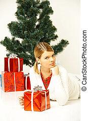gril, kerstmis