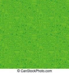 gril, ligne, vert, seamless, modèle