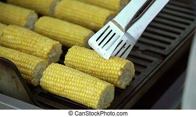 gril, maïs, cuisine