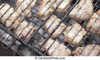 gril, porc, barbecue