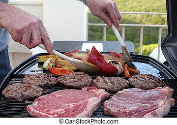 gril, ve volné přírodě vaření