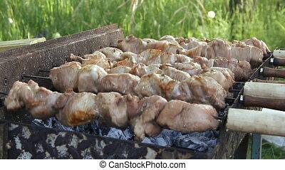 grillé, barbecue, viande, délicieux