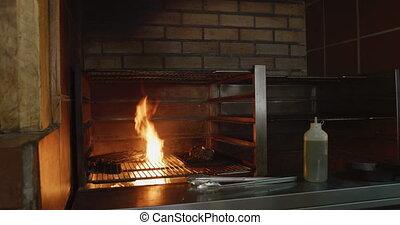grillé, brûler, viande
