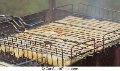grillé, cuisinier, burritos