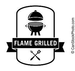 grillé, flamme
