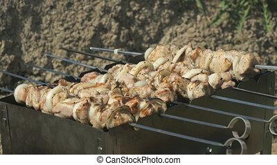 grillé, gril, viande, délicieux, barbecue