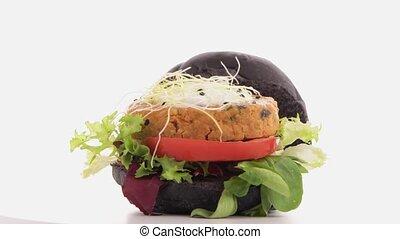 grillé, hamburger, végétarien, savoureux