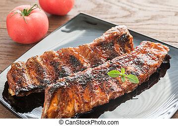 grillé, porc