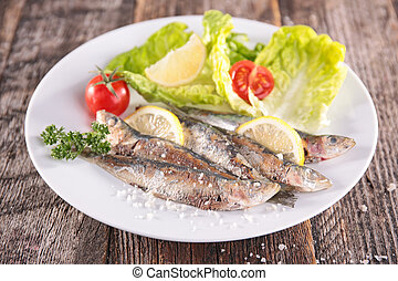 grillé,  sardine