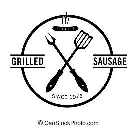 grillé, saucisse