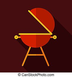 Grill barbeque cookout vector icon. Graph symbol for cooking...