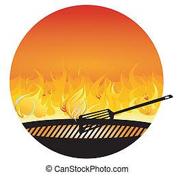 grill, bbq-