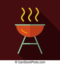 Grill BBQ cookout vector icon. Graph symbol for cooking web ...
