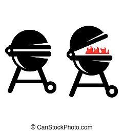 Grill BBQ Vector illustration icon. Barbecue grill