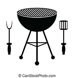grill, bestick, barbecue
