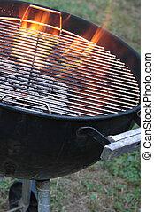 grill, csípős, kanna