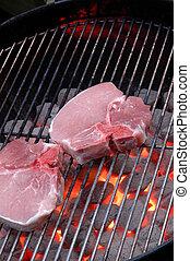 grill, disznóhús hullámzik