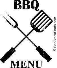 grill, elszigetelt, étrend