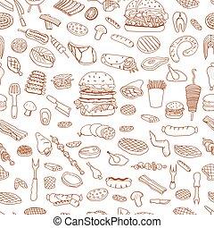 grill, grillsütő, motívum
