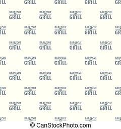grill, grillsütő, vektor, seamless, motívum