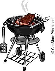 grill, hús