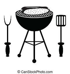 grill, hot dog, sült, grillsütő