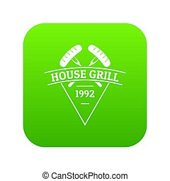 Grill house icon green
