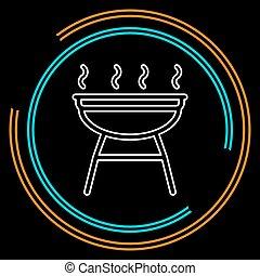 grill icon - vector barbecue party - picnic symbol