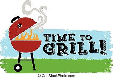 grill, idő