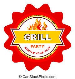 grill, jelkép.