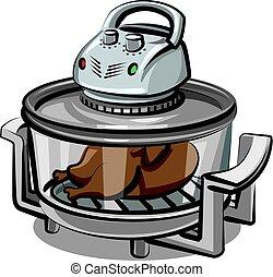 grill, készülék, elektromos