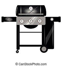 grill, kerti-parti