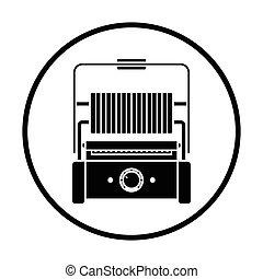 grill, konyha, elektromos, ikon