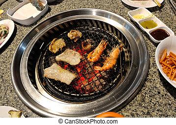 Grill,  Korea, BARBECUE, mat