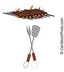 grill, kotlettrader