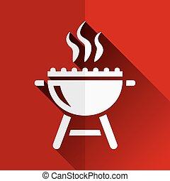 grill, lakás, ikon