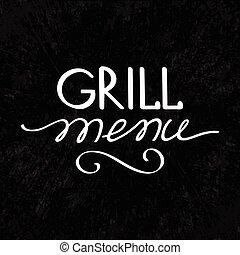 Grill Menu Concept