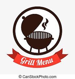 grill menu design, vector illustration eps10 graphic